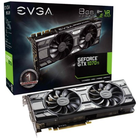PLACA DE VÍDEO EVGA GEFORCE GTX 1070 TI 8GB SC GAMING 08G-P4-5671-KR