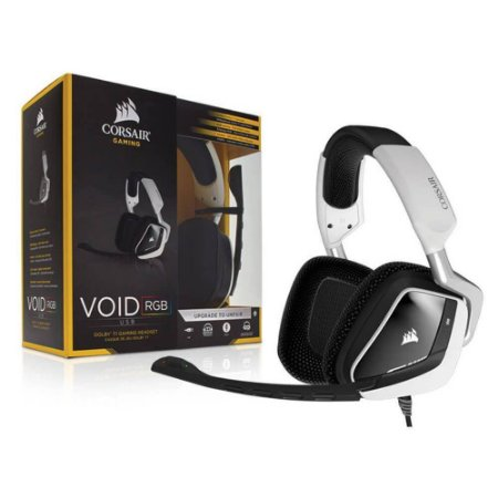 HEADSET GAMER CORSAIR VOID RGB WHITE CA-9011139-NA