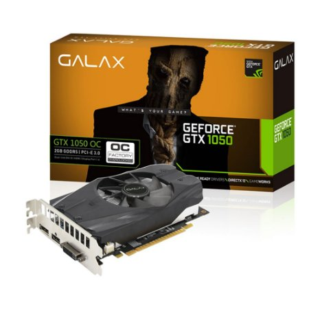 PLACA DE VÍDEO GALAX NVIDIA GEFORCE GTX 1050 2GB – 50NPH8DSN8OC
