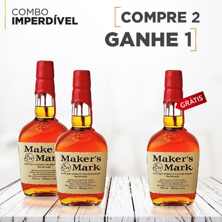 Whiskey Bourbon Maker's Mark Compre 2 leve 3