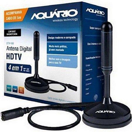 Antena Interna Digital Aquário DTV-150 Vhf/Uhf/Fm/Cabo 5 metros