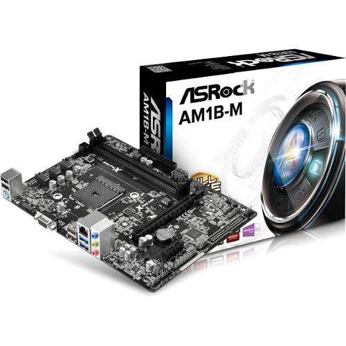 Placa Mãe Asrock Am1 Am1b-Mh Com Video Som E Rede Integrado