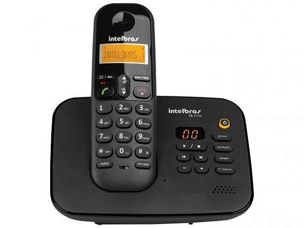 Telefone Sem Fio Intelbras TS 3130 - Identificador de Chamada Sec. Eletrônica Preto