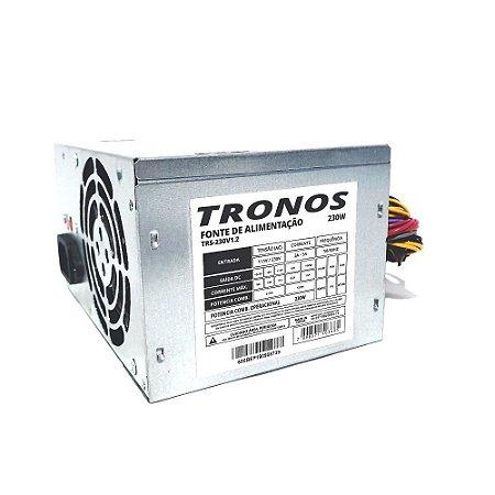 Fonte Atx  230w real Tronos BPC-230 24 Pinos