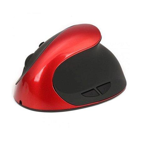 Mouse Óptico Ergonômico Vertical Sem fio Recarregável 6 Botões