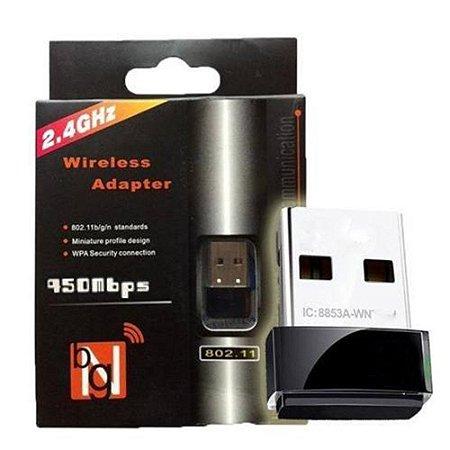 Adaptador Wireless Usb Sem Fio Wifi 950 MBPS
