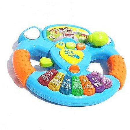 Volante Musical Infantil Bebê Motorista Atividades Som E Luz