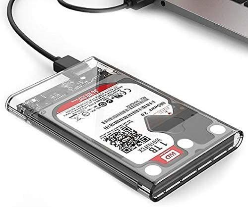 Case Para Hd Externo Transparente Notebook Sata 2.5 Usb 3.0
