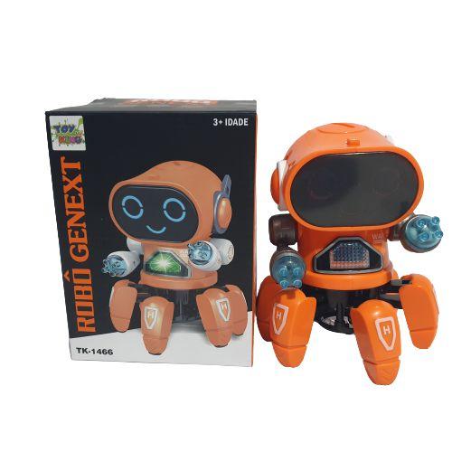 Brinquedo Robô Aranha Dançante Com Som Luz E Movimento