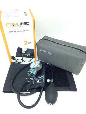 Aparelho pressão arterial adulto nylon preto com fecho - P.A. MED