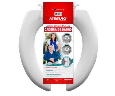 Assento sanitário oval aberto para cadeira de banho - Mebuki