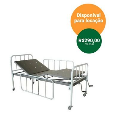 Cama hospitalar fawler standart + par de grades - Santa Luzia