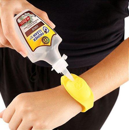 Kit pulseira de biossegurança + gel antisséptico - Orthopauher