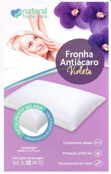 Fronha antiácaro violeta - Natural home care