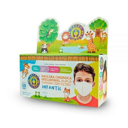 Máscara cirúrgica descartável dupla camada com filtro infantil - Orthopauher