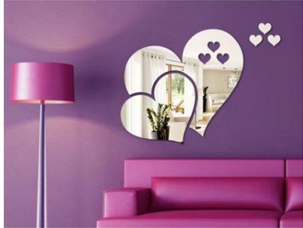 Espelho decorativo coração modelo 2