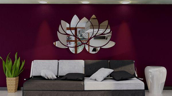 Espelhos Decorativos em Acrílico Flor de Lótus  ESP010