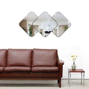 Espelhos Decorativos em Acrílico 3 Quadrados P esp012