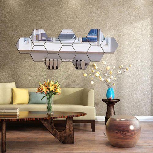 Espelho Decorativo em Acrílico colmeia 12 peças Esp021