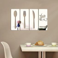 Espelhos Decorativos em Acrílico 4 Peças Cozinha
