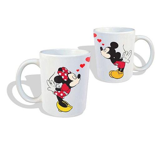 Canecas Personalizadas 2 Peças Mickey e Minie se Beijando