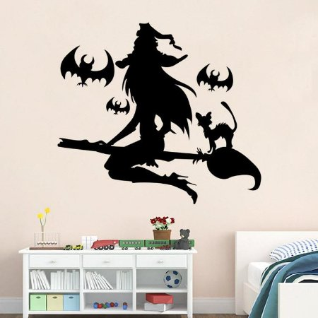 Adesivo de Parede Bruxa Halloween