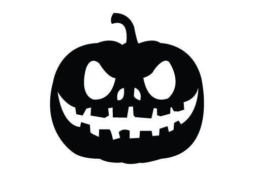 Adesivo de Parede Halloween Abóbora M 2