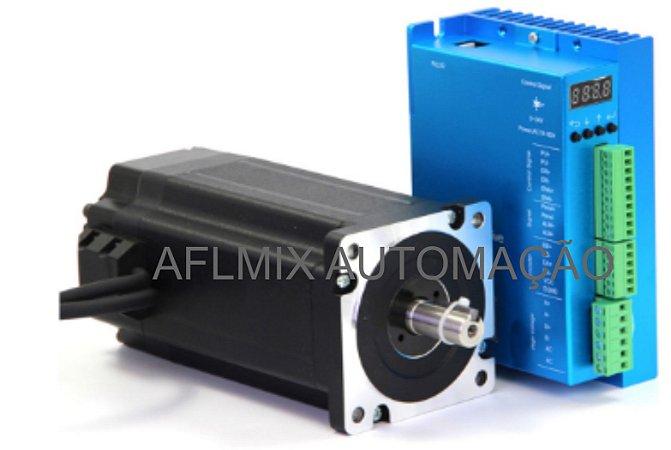 Servo Motor de passo nema 34 com 12 nm com driver digital