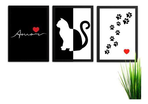 Kit 4 Quadros Decorativos Amor