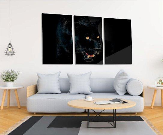 Quadro Decorativo Cavas Pantera Negra