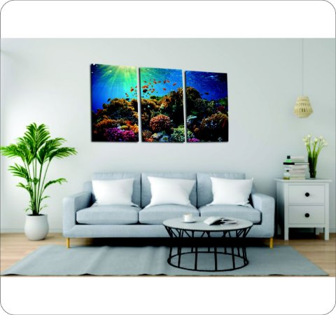 Quadro Decorativo Cavas Fundo do Oceano
