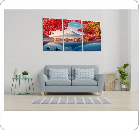 Quadros Decorativos Cavas Montanha 3 peças