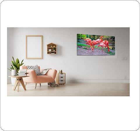 Quadro Decorativo Canvas Flamingos