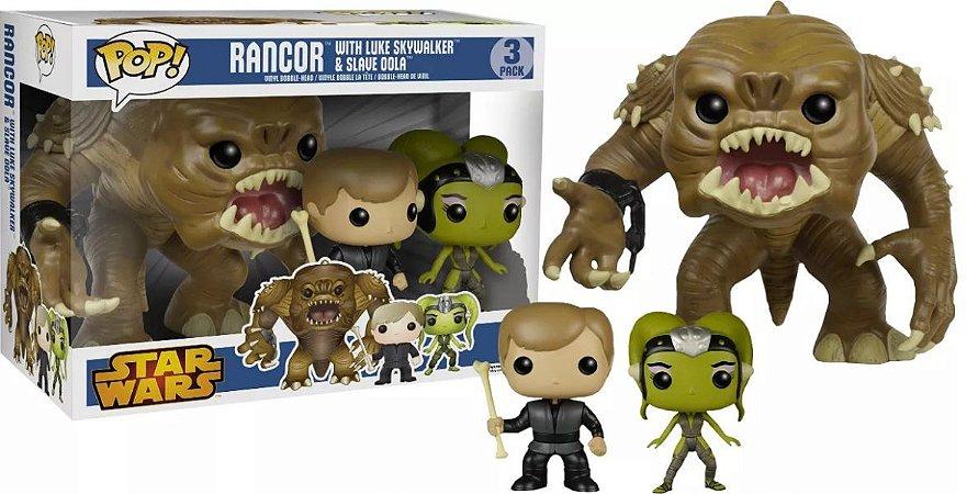 Star Wars:Rancor Luke and Slave Oola (excl. Walmart)Nº3 caixa com avaria