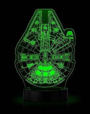 Luminária-Star Wars: Millenium and Death Star