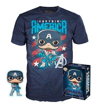 Funko Marvel Box: Capitão America + Camiseta Vingadores Ultimato