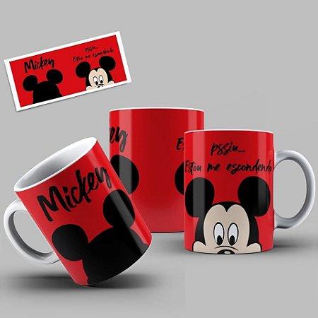 Caneca Personalizada: Mickey e sua turma