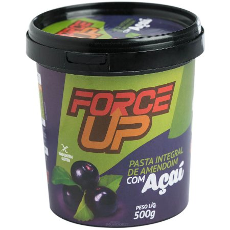 Pasta de amendoim 500g (com sabor) - Force Up