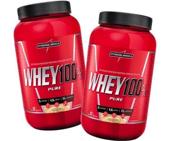 c81c62f9d Kit 2x Whey 100% Pure (907g) CHOCOLATE - Integralmedica - novofisico ...
