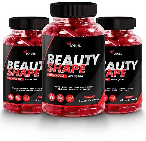 Beauty Shape 500mg 60 CPS kit com 3 - NATURE