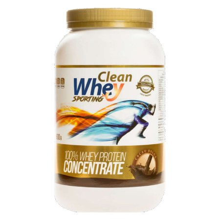 CLEAN WHEY CONCENTRATE GLANBIA 900GR CACAU BELGA