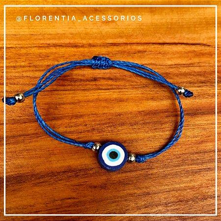 Pulseira Olho Grego Azul Bic