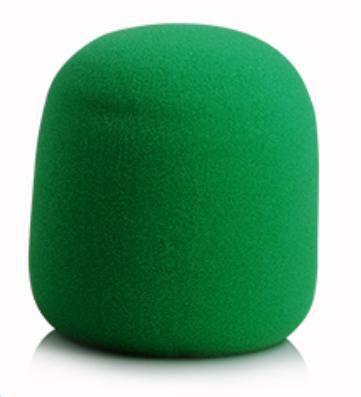 Espuma Para Microfone de Mão Verde