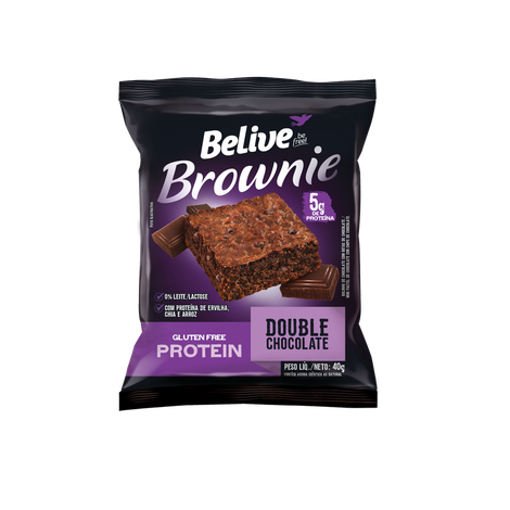 Belive - Brownie Protein Double Sabor Chocolate 40g