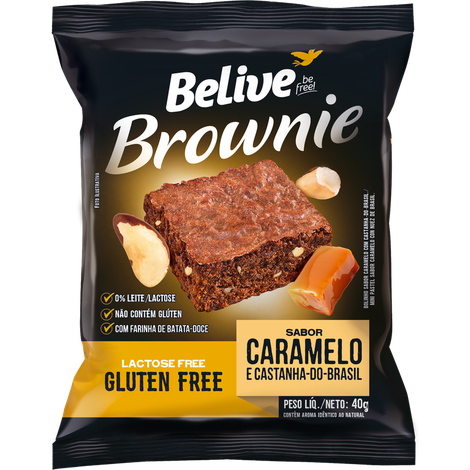 Belive - Brownie Sabor Caramelo e Castanha do Brasil 40g