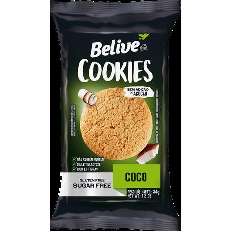 Belive - Cookie Sabor Coco Zero Açúcar  34g