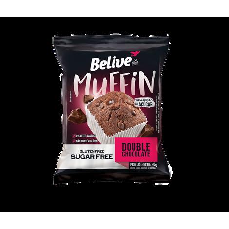 Belive - Muffin Double Chocolate Zero Açúcar 40g