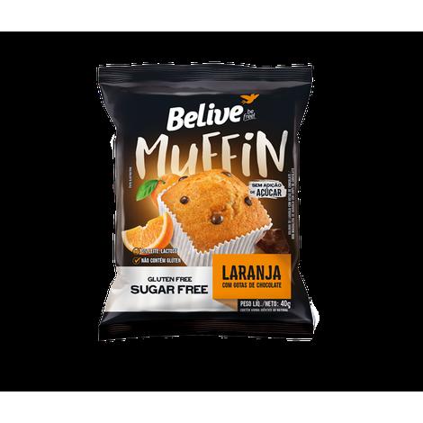 Belive - Muffin Laranja com Gotas de Chocolate Zero Açúcar 40g