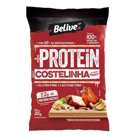 Belive - Snack Protein Sabor Costelinha ao Molho Barbecue 35g