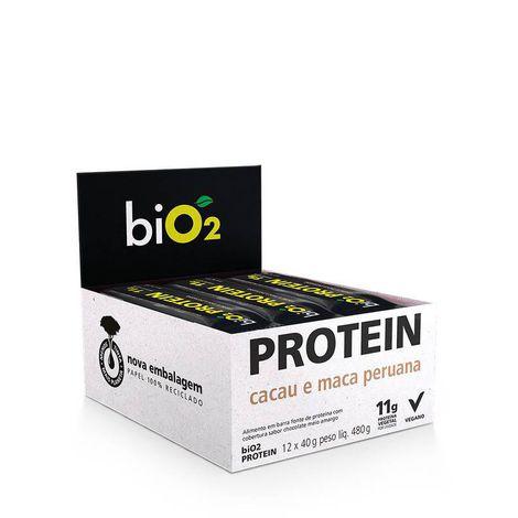 Bio2 - Bio Protein Sabor Cacau e Maca Peruana Coberto Choc. Meio Amargo 40g